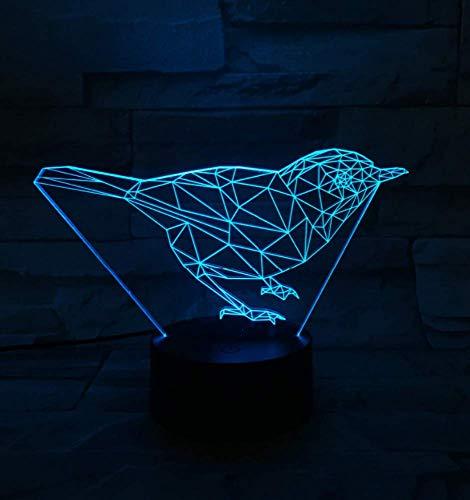 Niedliche 3D Vogel Tier Schreibtisch Tisch Lava Lampara Led Nachtlicht Bild Stimmung Rgb 7 Farbwechsel Kinder Weihnachten Halloween Geschenk