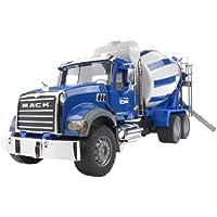 BRUDER - 02814 - Camion toupie à beton MACK - Bleu