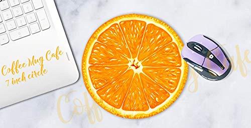 Mauspad Mousepad Orange Slice Fruit Citrus Summer Tropical Orange Büro Back to School Desk Untersetzer - Orange Mikrowelle
