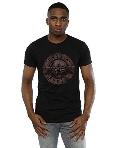 Guns N Roses Homme Sepia Bullet Logo T-Shirt Small Noir Générique