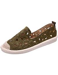 8a6ce73b4a99d Yudesun Zapato Hueco Respirables Resbalón Ocasional Mujer - Calzado Casual  Planos Cabeza Redonda Transpirable Moda Deportes