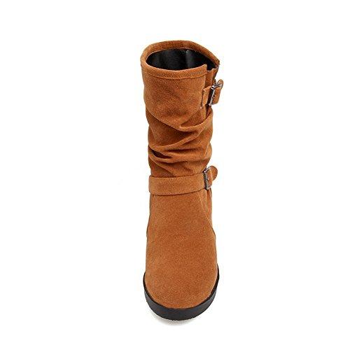 AN ANDku01711 - Stivali da Neve Donna Brown