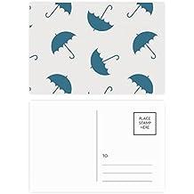DIYthinker Paraguas Azul Tiempo nube de lluvia postal Conjunto de tarjeta de cumpleaños de correo Gracias