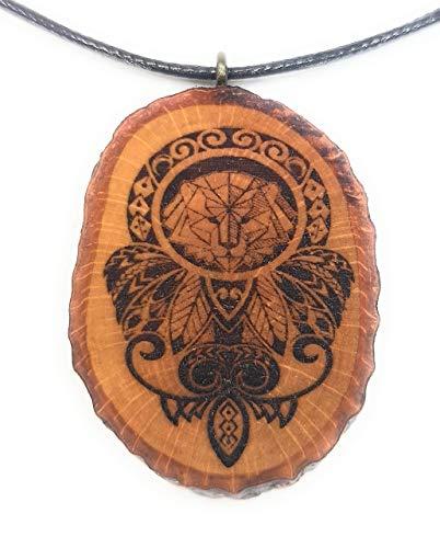 i 3 Holzkette Halskette - Tribal - Hawaii - Neuseeland - Surfer - Surferschmuck - Vaiana - Löwe - Aloha - Federn - Herren - Männer - Surferketten ()