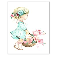 Girl and Umbrella C Poster Prints Wall Art Pictures A1 Size(40cmx60cm)