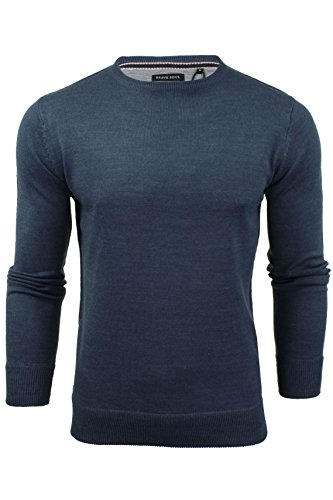 Mens Crew Neck Jumper by Brave Soul (Mid Blue) M