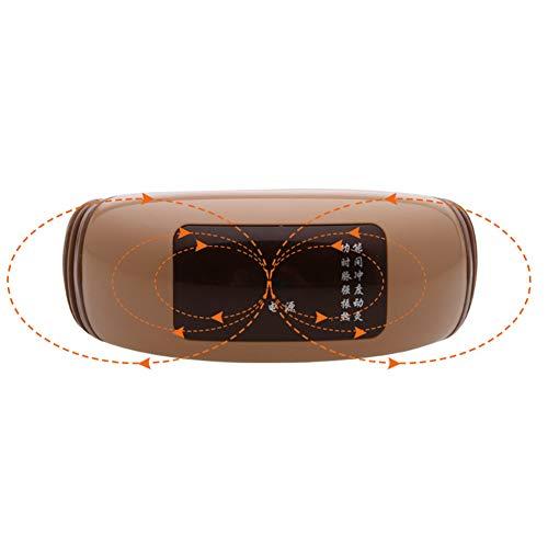 ZHYJJ Elektrisch Massagegerät Rotation Shiatsu Nackenmassagegerät Für Massage Auf Nacken Schulter Rücken Für Müdigkeit Lindern Schmerzverlinderung,Gold