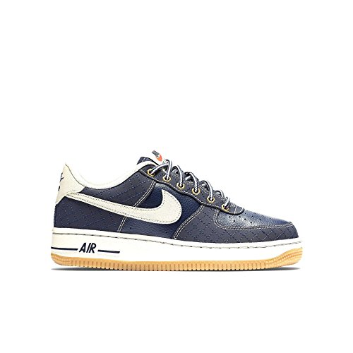Nike Air Force 1 Premium (Gs), Scarpe da Basket Bambino Nero / Marrone (Obsidian / Lght Bn-Gm Lght Brwn)