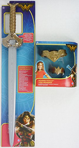 Mattel FDM95 + FDM96 - DC Movie Wonder Woman Schwert & Tiara und Armreif