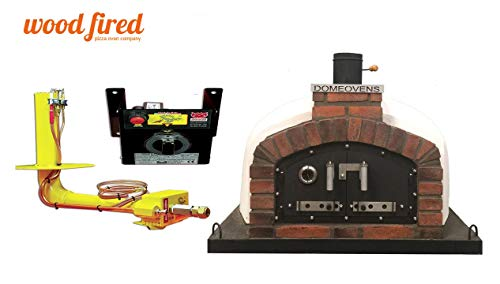 Franco Wood Fired Pizza Oven Double Insulation, Cast Iron Door, With gas burner, 140cm x 140cm