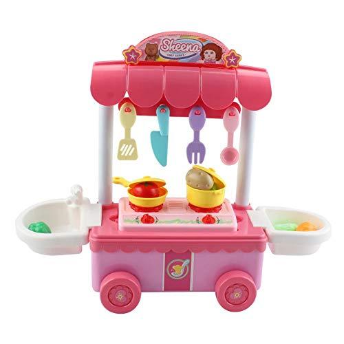 Hualieli cucina gioca cucina per bambini con accessori cucina da gioco con stoviglie cucina da cucina per bambini set di giocattoli da cucina inkl light and cooking noise girl toy