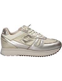 Lotto Sneakers Tokyo Wedge Glitter W Argento-Oro T4631-36, Argento