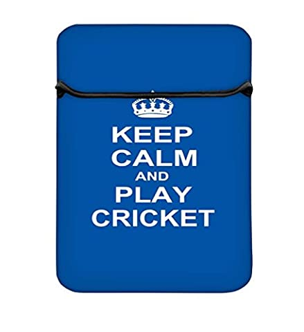 Keep Calm And Play Cricket 10 au 26,9 cm Housse pour ordinateur