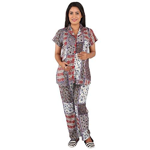 Vixenwrap Multicolor Top & Pyjama Set