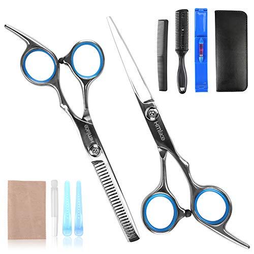 """Hmlike Forbici da parrucchiere professionali, 6.7\"""" Forbici per taglio capelli Set di forbici per barbiere Kit per sfoltimento dei capelli con custodia"""