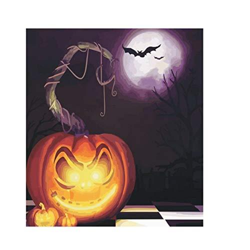 Waofe Halloween Theme Diy Malen Nach Zahlen Acrylfarbe Auf Leinwand Moderne Wandkunst Bild Für Wohnkultur 40X50 A-844-Ohne Rahmen (Zeichnen Zu Halloween-bilder)