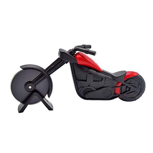 Mengonee Motocicleta de Acero Inoxidable de plástico Cortador de Pizza pastelería Moto Chopper Rueda máquina de Cortar