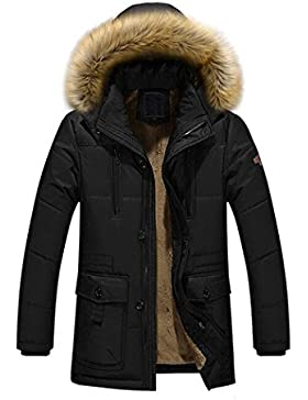 [Patrocinado]Ropa de abrigo para hombre, RETUROM Los hombres más nuevos del estilo calientan la chaqueta encapuchada de la...
