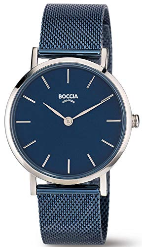 Boccia Damen Analog Quarz Uhr mit Edelstahl Armband 3281-07