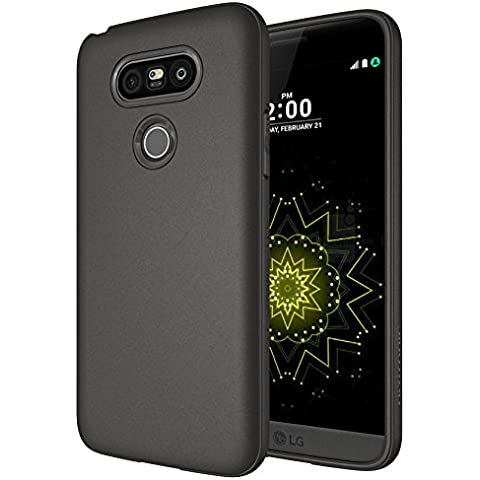 LG G5 Case - Diztronic Full Matte TPU Series - Slim-Fit Soft-Touch Thin & Flexible Phone Case for LG G5 - Full Matte Charcoal