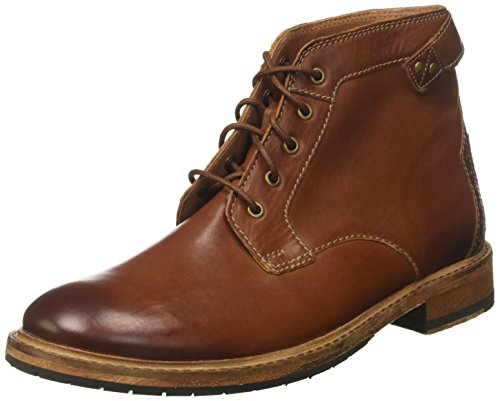 Clarks Herren Clarkdale Bud Chelsea Boots, Braun (Dark Tan Lea-), 43 EU