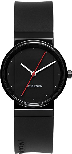 Jacob Jensen Womens Analogue Quartz Watch with Rubber Strap 763