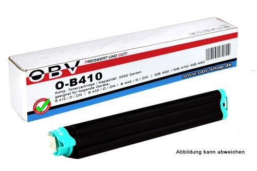 OBV kompatibler Toner B410 ersetzt OKI 43979102 , Kapazität 3500 Seiten ,...