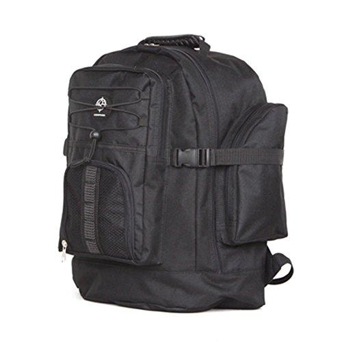 Friendz Trendz-Rib Magazzino maniglia dei bagagli di Carry Daypack zaino di campeggio (black) black