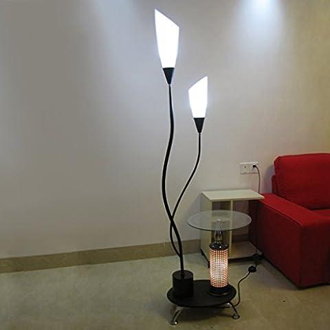 Mode Couchtisch Glas Stehleuchte, Einfache Schwarz-Weiß Wohnzimmer Schlafzimmer Dekorative Beleuchtung Tischlampe ( Farbe : Schwarz )