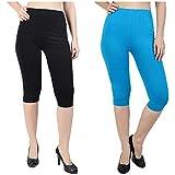 Svadhaa Women's Skinny Fit Capri (Pack of 2)