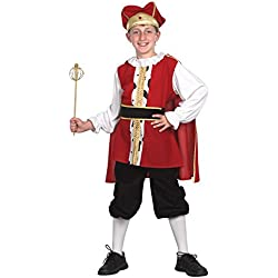 Theme Fancy Dress Disfraz de niño de Rey Medieval. 10-13 años