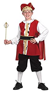 Bristol Novelty CC558 Medieval King Child's Costume, Small, 110 - 122 cm