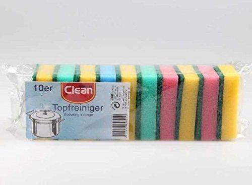 Schwamm CLEAN 10er Küchenschwamm Topfschwamm Reinigungsschwamm