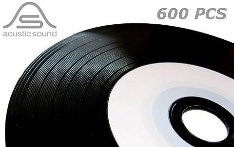 600MediaRange CD-R Vinyl Vynil Vintage Look Printable CD–r 52x 700Mo 80min (12Spindle 50Pcs) vierges vides à jet d'encre Ink-jet
