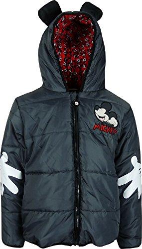 Niños Disney Mickey Mouse Chaqueta con capucha de invierno Gris oscuro