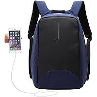 UBaymax Anti-Diebstahl Laptop Rucksack mit USB Anschluss für Schule,Uni,Business,Reisen,15,6 Zoll,Größe: 31 * 46 * 14 cm,für Herren,Damen,Kinder,Canvas Wasserdicht