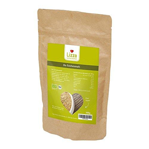 Lizza Low Carb Goldleinmehl 1kg | Goldleinsamenmehl, Leinmehl, Leinsamenmehl | KETO | 100% Bio | Glutenfrei | Vegan/pflanzlich | High Protein | Mehl-Ersatz | 1000g