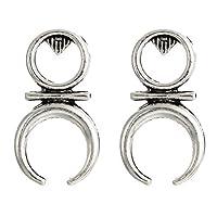 SSEHX earring Bohemia Stud Earrings For Women Ethnic Gold Silver Color Loop Earrings Punk Style Statement Ear Jewelry
