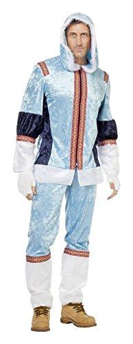 Kostüm Eskimo Jacke - Eskimo Kostüm Herrenkostüme Herren Karneval Fasching Jacke Hose Blau