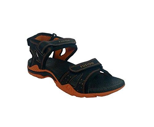 Fuzion Men's Orange Sandal - 10 UK  available at amazon for Rs.498