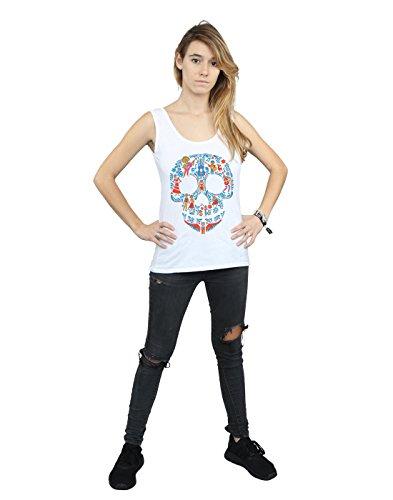 Disney Femme Coco Skull Pattern Tank Top Blanc