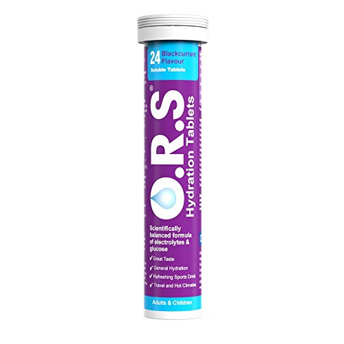 O.R.S Hydration Tablets - Blackcurrant Flavour - Tube of 24 Tablets
