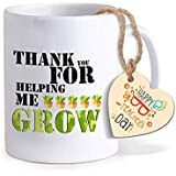 TIED RIBBONS Gift For Teachers Day Thank You For Helping Me Grow Printed Coffee Mug With Tag