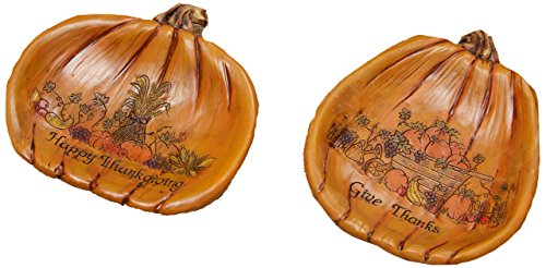 your hearts Delight Happy Thanksgiving and give Thanks Decor Plates,
