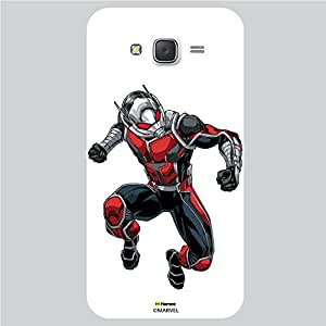 Hamee Original Marvel Character Licensed Designer Cover Slim Fit Plastic Hard Back Case for Samsung Galaxy On7 / On 7 (Ant man 1/White )