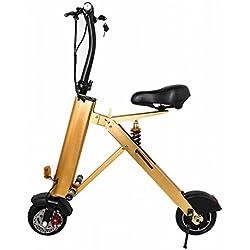 Scooter Eléctrico Plegable Portátil ,Oro,14 (pulgadas)