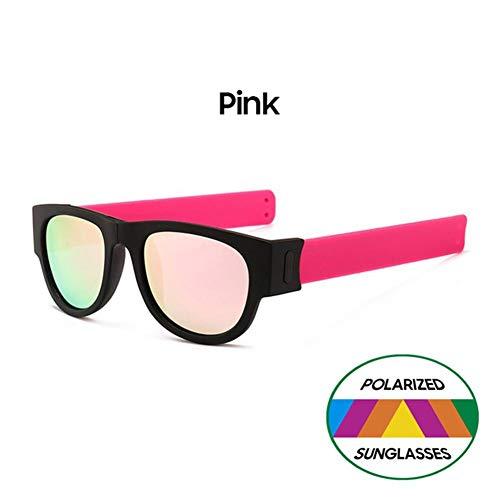 luckything Klappbar Sonnenbrille,Polarisierte Mode Sonnenbrille Klassische Brille,Polarized Sunglass Protection Folding Lässige Sunglass Slap-on Wraparound Für Erwachsene Und Kinder Für Herren Damen