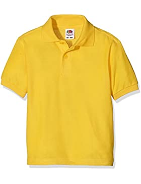 Fruit of the Loom Boys Shortsleeve, Polo para Niños