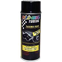 Duplicolor 383762 Spray de Pintura Plástica, Color Negro Brillante, 400 ml, 300°C