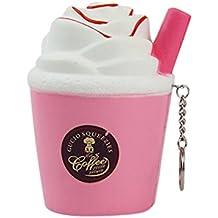 Juguetes, Manadlian ❤️ 2018 Copa de helado de leche Apretón de juguete Squishy Slow Rising Descompresión Juguetes apretados (Rosa)